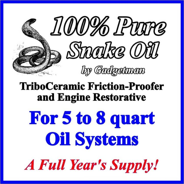 Snake Oil for 5 to 8 Quart Systems
