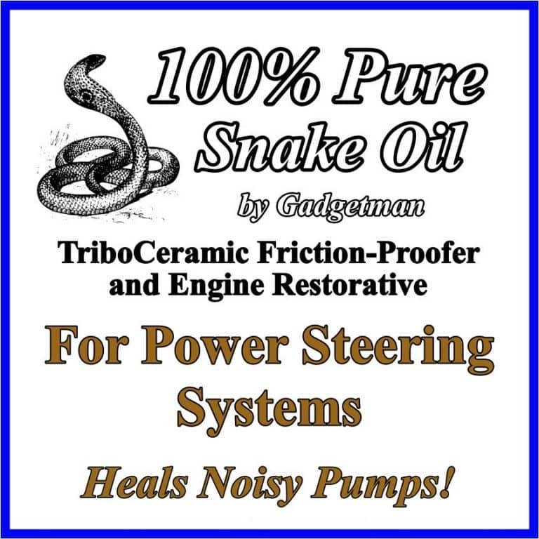Snake Oil for Power Steering Systems