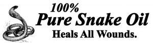 100% Pure Snake Oil Logo
