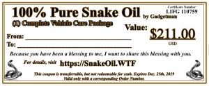 Snake Oil Complete Car Care