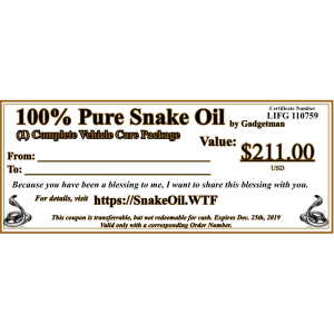Snake Oil Complete Car Care Package