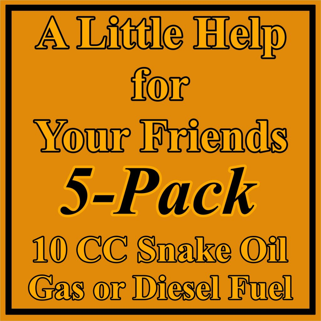 5 Pack 10 CC Fuel System Treatment