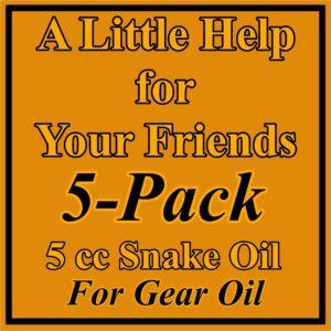5 Pack Gear Oil