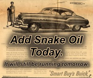 The great big monster cars of yesteryear find new power with a dose of Snake Oil by Gadgetman!