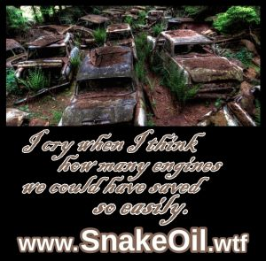 So many vehicles would still be on the road today if the owners only had a small dose of Snake Oil by Gadgetman!