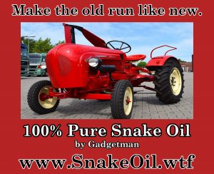 Old Tractors gets New Life with Snake Oil by Gadgetman.