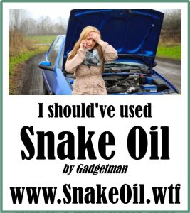 Mechanical breakdowns can mostly be avoided with better lubrication. Here, there is nothing better than Snake Oil to give you friction-reduction!