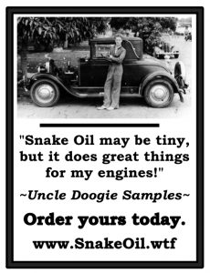 Antique vehicles are still treasured by their owners. Many are finding their antique engines restored to new life, more power, and better mileage with Snake Oil by Gadgetman!