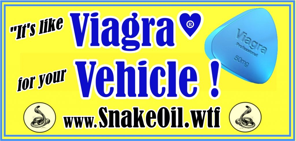 The legendary Viagra may restore a man's libido for a short time, but Snake Oil by Gadgetman doesn't fade away!